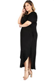 Maxi Dress with Pockets in Plus Size