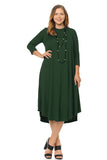 Swing Midi Dress Plus Size Solid