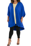 Draped High-Low Kimono Jacket in Premium Knit