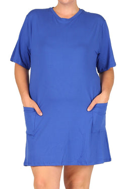 T-Shirt Dress with Pocket in Plus Size