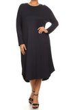 Midi Dress Plus with Concealed Pockets