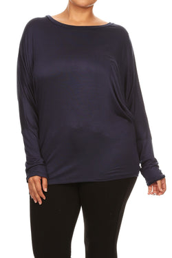 Jersey Knit Dolman Top