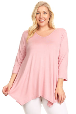 Asymmetric Tunic Top in Plus Size