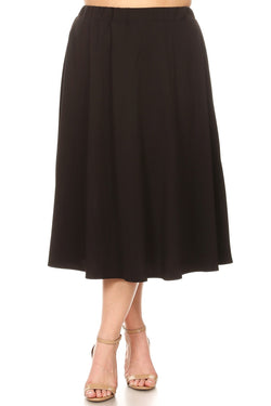 A-Line Midi Skirt in Plus