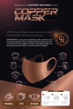 Copper Infused Face Mask - Black