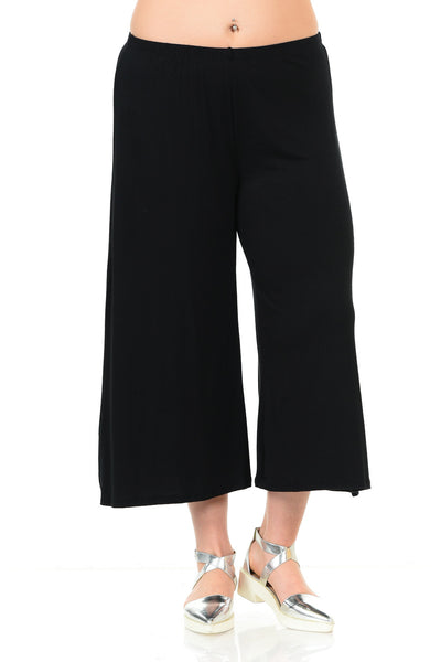 Wide Leg Crop Culottes Plus