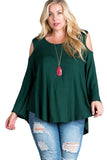 Cold Shoulder Top in Plus Size