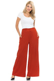 Solid Palazzo Pants with Pockets