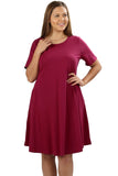 A-Line Cotton Dress in Plus Size