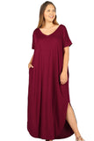 Viscose Harem Maxi Dress in Plus Size