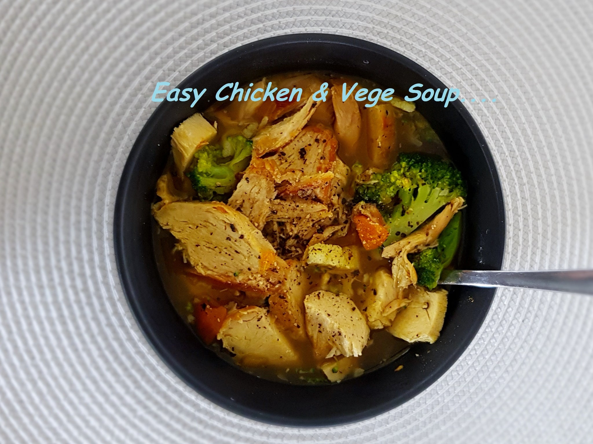 Warm up this winter with this easy low carb Chicken Vegetable Soup