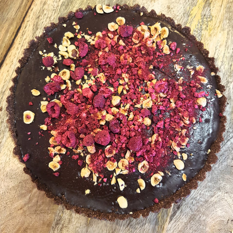 chocolate hazelnut raspberry tart recipe purely paleo natural