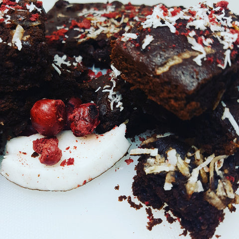Paleo Chocolate Cherry and Coconut Slice - Purely Natural Recipes