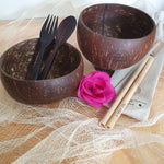 Eco Living - Coconut Bowl & Straw Set