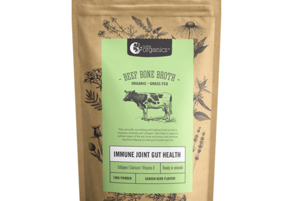Nutra Organics - Beef Bone Broth Garden Herb - Purely Natural NZ