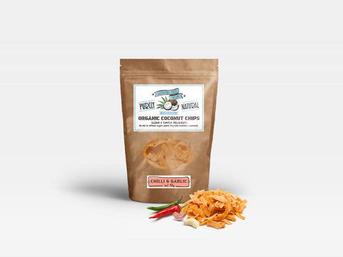 Purely Natural Coconut Chips Organic - Chili and Garlic