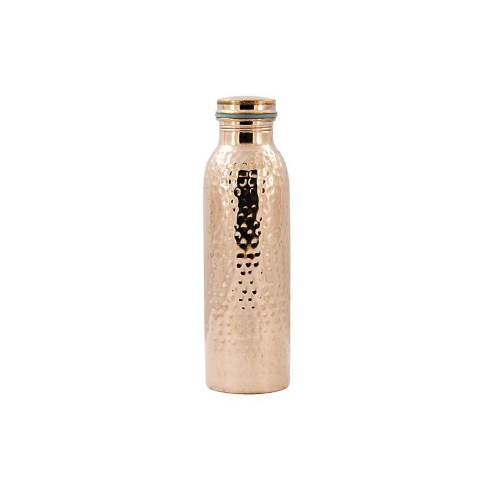 Purely Natural NZ - Pure Copper Drink Bottle Hammered finish (850ml)
