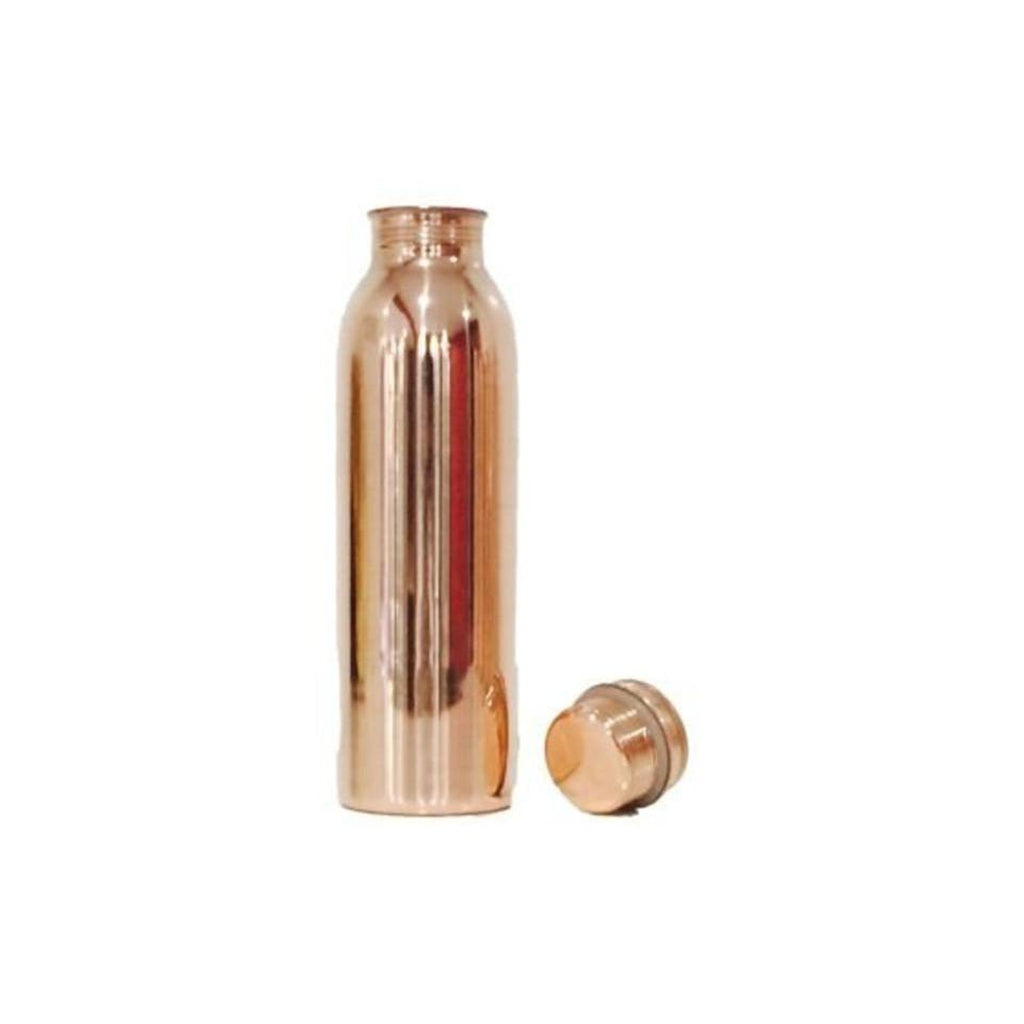 Purely Natural NZ - Pure Copper Drink Bottle - Smooth Shiny finish (850ml)