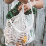 Cotton Mesh Tote / Shopping Bag