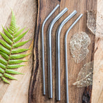 Mixed Reusable Bent Straws Pack Stainless