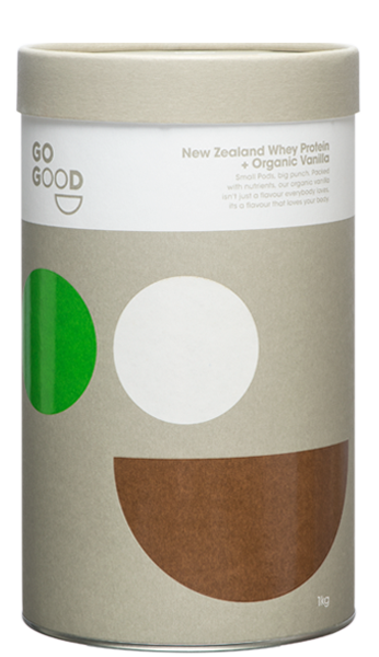 Go Good Organic Vanilla Whey Protein Powder  - 1kg - Purely Natural NZ