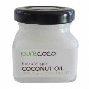 Pure Coco - Extra Virgin Coconut Oil - Glass Travel Jar 40gms (45ml) - Purely Natural NZ