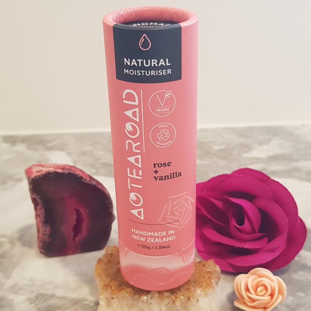 Aotearoad - Natural Body Stick Moisturiser  Rose + Vanilla  55g