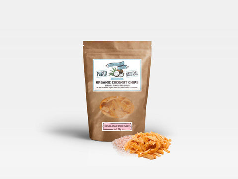 Purely Natural Coconut Chips Organic - Himalayan Pink Salt