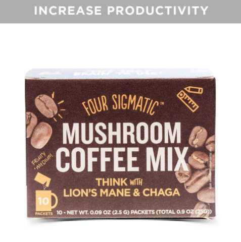 Four Sigmatic Mushroom Coffee with Lions Mane - Productivity