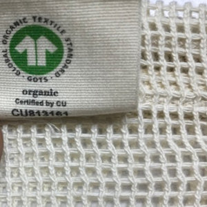 Cotton Mesh Produce Bags, Set of 4