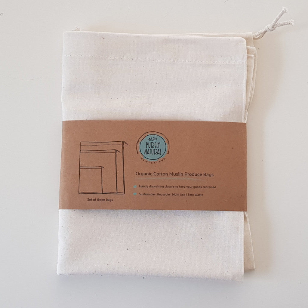 Bulk Bin Bags Organic Cotton - Purely Natural NZ