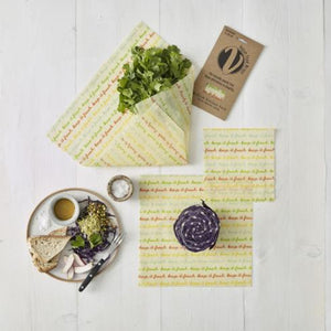 Vegan Organic Food Wraps - Medium Kitchen Pack