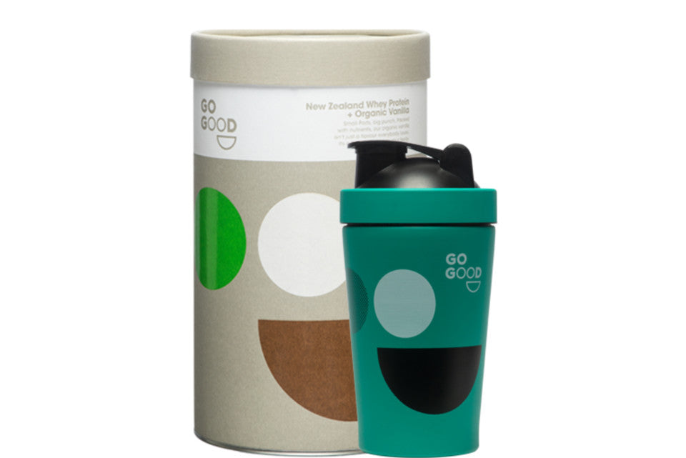 Go Good | Organic Whey Protein Powder  | Shaker Bundle 1KG