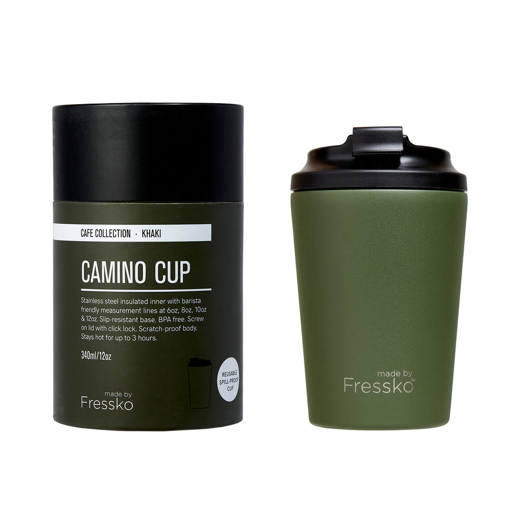 Fressko Camino Coffee Cup  - Khaki 340ml