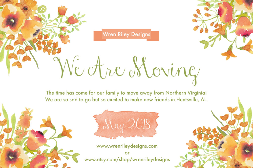 Wren Riley Designs is Moving!