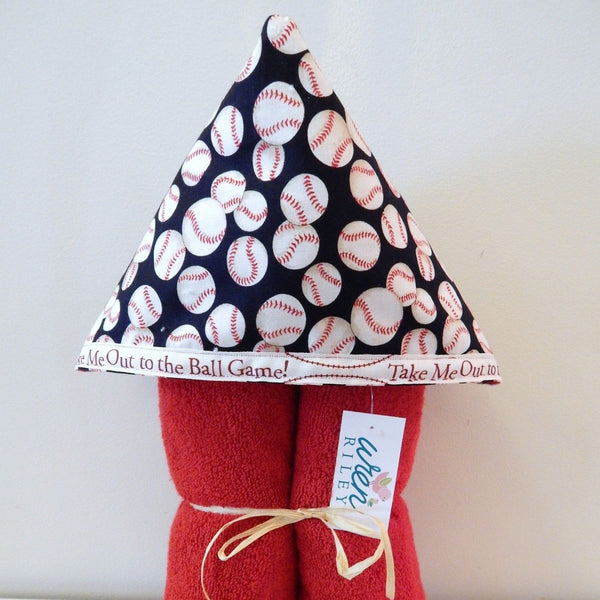 Take Me Out to the Ball Game Child's Hooded Towel for Bath, Beach, Or Pool