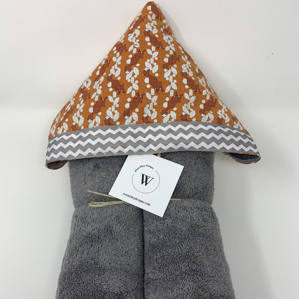 Fox Forest Hooded Towel for Bath, Beach, or Pool