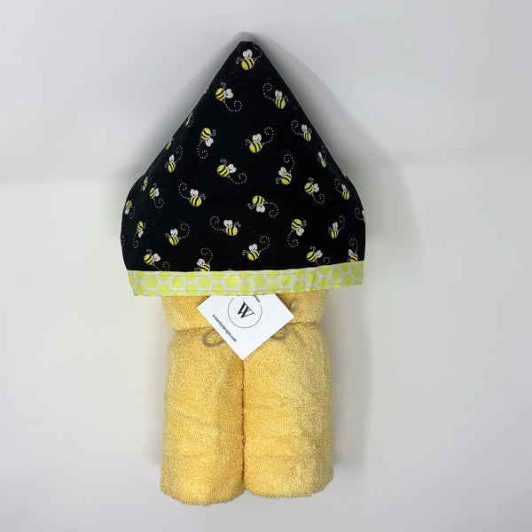 Busy Bee Child's Hooded Towel for Bath, Beach, or Pool