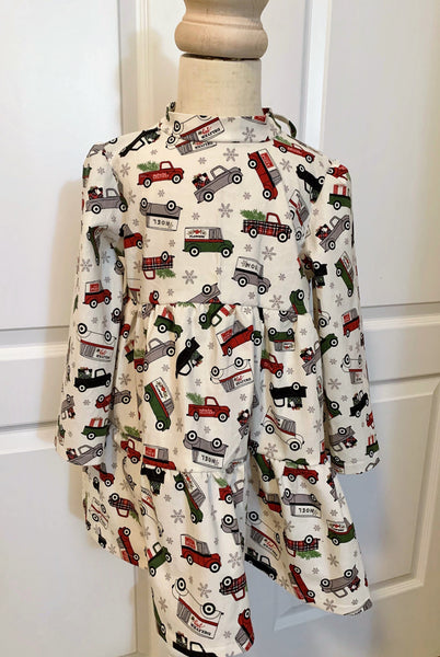 Christmas Trucks Tunic Top 4T Clothing
