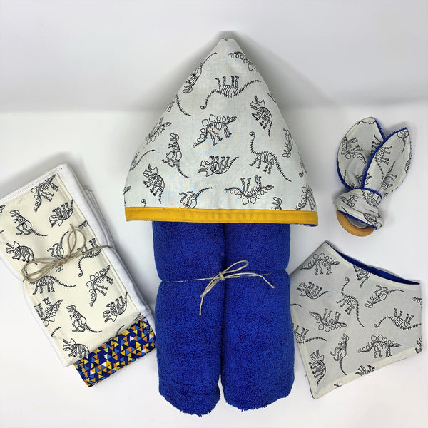 Fossil Friends Dinosaur Child's Hooded Towel for Bath, Beach, or Pool