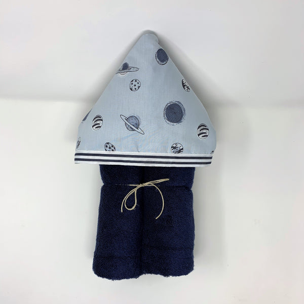 Planets Solar System Child's Hooded Towel for Bath, Beach, or Pool
