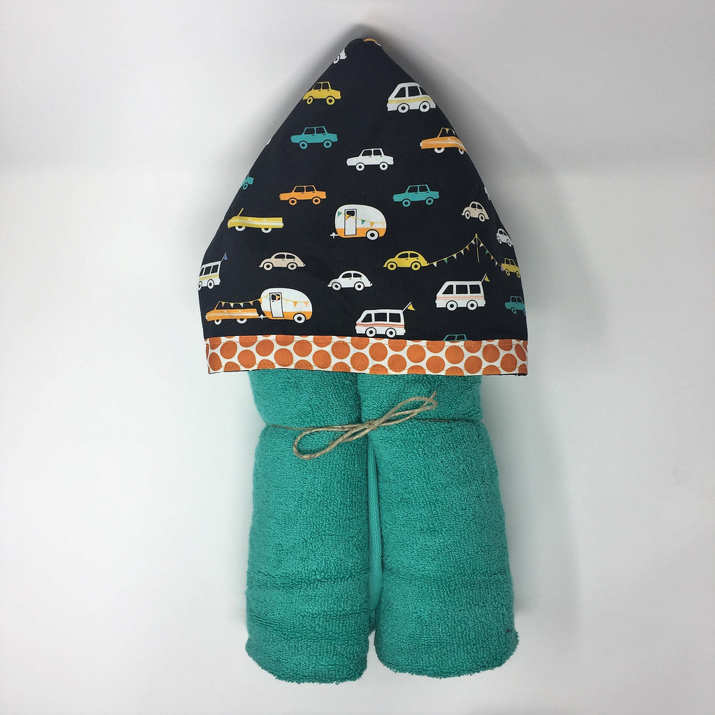 Road Trip Cars Child's Hooded Towel for Bath, Beach, or Pool