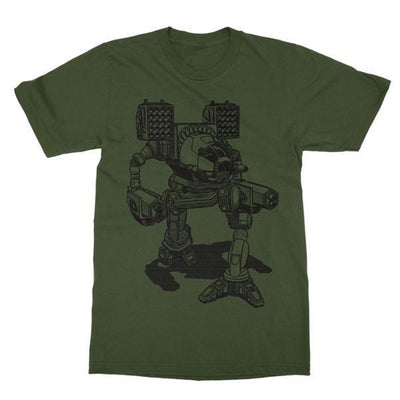 Battlemech Shirt-T-Shirts-Shirtasaurus-Basic-S-Military Green-Shirtasaurus