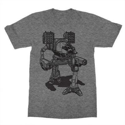 Battlemech Shirt-T-Shirts-Shirtasaurus-Basic-S-Oxford Heather-Shirtasaurus