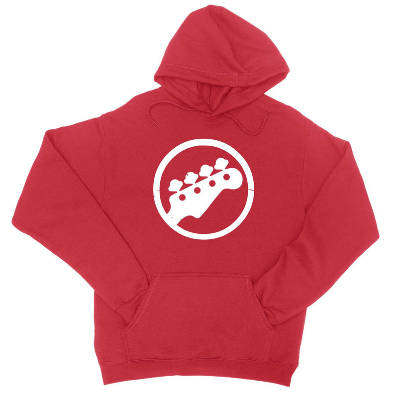 Bass Logo Hoodie Sweatshirt-Hoodies-Shirtasaurus-S-Red-Shirtasaurus