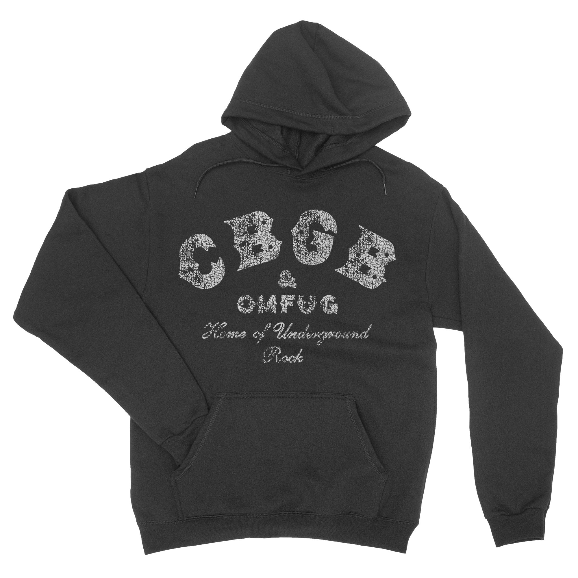 CBGB OMFUG Hoodie Vintage distressed retro punk Sweatshirt-Hoodies-Shirtasaurus-S-Black-Shirtasaurus