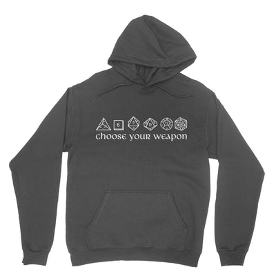 Choose Your Weapon Dice Pullover Hoodie-Hoodies-Shirtasaurus-S-Black-Shirtasaurus