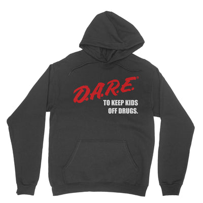 D.A.R.E. (Dare) 90's Vintage Logo Hoodie 80s or 90s clothing retro vibe. Instant classic. Dare Black Sweatshirt Unisex.