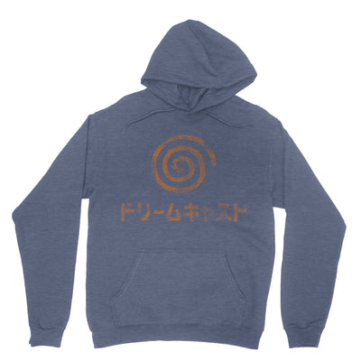 Dreamcast Japanese Hoodie-Hoodies-Shirtasaurus-S-Heather Sport Dark Navy-Shirtasaurus