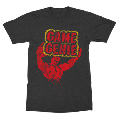 Game Genie Shirt-T-Shirts-Shirtasaurus-Basic-S-Heather Black-Shirtasaurus